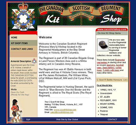 Canadian Scottish Regiment Kitshop